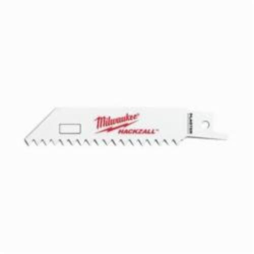 Milwaukee® 49-00-5461 M12™ Straight Back Thin Kerf Reciprocating Saw Blade, 4 in L x 3/4 in W, 6, Bi-Metal Body, Universal Tang
