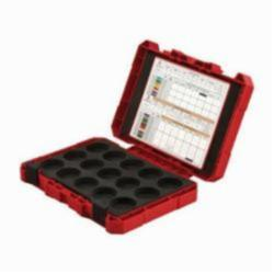 Milwaukee® 49-16-CASE Storage Case, 7-13/16 in H x 2-1/2 in W x 2-1/2 in D, Plastic, Black/Red