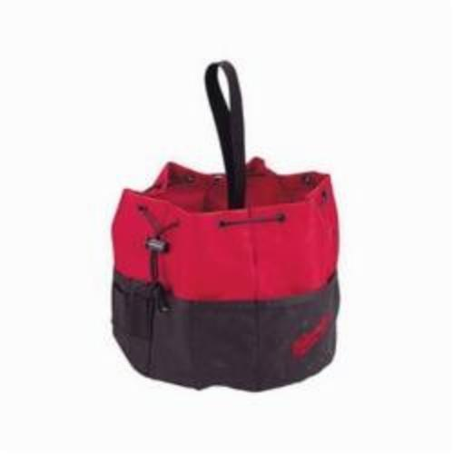 Milwaukee® 49-17-0110 Heavy Duty Bag Parachute, 9 in H x 10 in W x 9 in D, 20 Pockets, 600 Denier Polyester, Black/Red