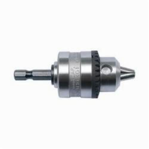 Milwaukee® 49-22-1560 Keyless Drill Chuck, 1/4 in Capacity, Integral Hex Shank Mounting, Plain Bearing, 48-66-3350