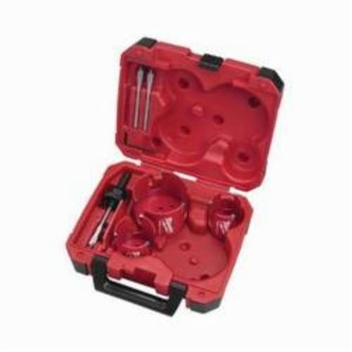 Milwaukee® 49-56-9075 Big Hawg® Hole Cutter Kit, 7 Pieces, For Use With 49-56-7210, 49-56-7240, 49-56-7250 and 49-56-9100 Quick-Change Arbor, HSS Tooth