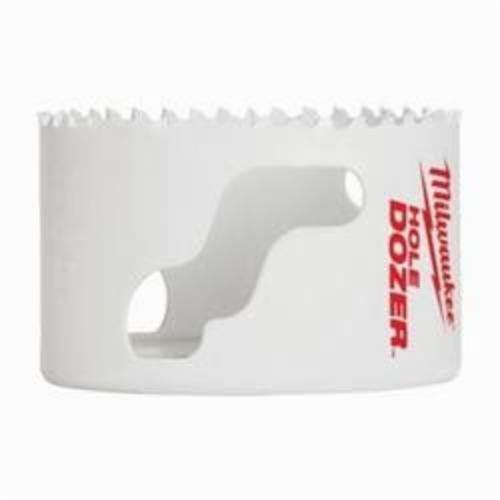 Milwaukee® Ice Hardened™ 49-56-0203 Hole Dozer™ 49-56 Hole Saw, 3-3/4 in Dia, 1-5/8 in D Cutting, Bi-Metal/8% Cobalt Cutting Edge