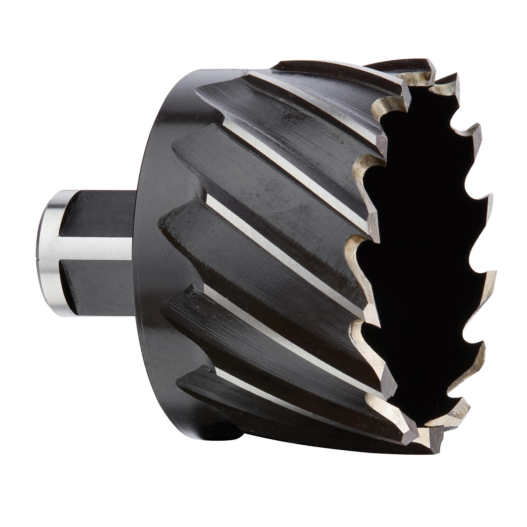 Milwaukee® 49-59-2025 Annular Cutter, 2-1/4 in Dia Cutter, 1 in D Cutting, HSS, Black Oxide, Weldon Shank