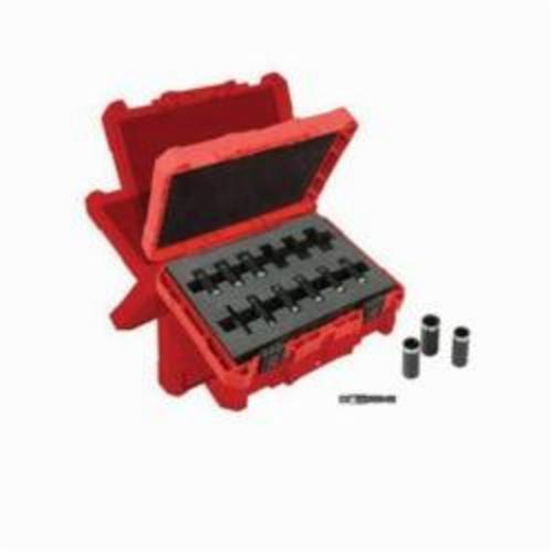 Milwaukee® 49-66-4301 SHOCKWAVE™ Impact Duty™ Deep Well Thinwall Socket Set, Metric, 6 Points, 1/4 in, 12 Pieces