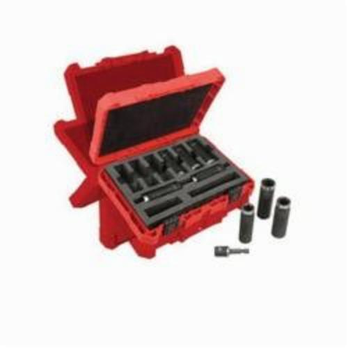 Milwaukee® 49-66-4484 SHOCKWAVE™ Impact Duty™ Deep Well Thinwall Socket Set, Imperial, 6 Points, 1/2 in, 9 Pieces