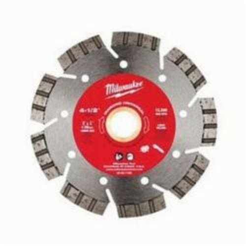 Milwaukee® 49-93-7105 Universal Segmented Turbo Circular Diamond Saw Blade, 4-1/2 in Dia Blade, 7/8 in, 20 mm, 5/8 in Arbor/Shank, Dry/Wet Cutting