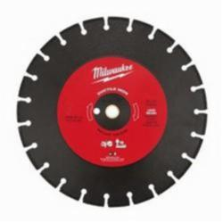 Milwaukee® 49-93-7340 Segmented Diamond Cut-Off Blade, 14 in Dia Blade, 1/8 in W, 1 in Arbor/Shank, Dry/Wet Cutting