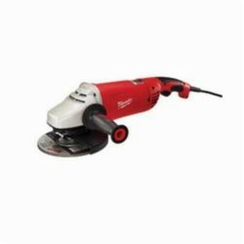 Milwaukee® 6088-31 Double Insulated Large Angle Grinder, 7 in, 9 in Dia Wheel, 5/8-11 UNC Arbor/Shank, 120 VAC, Black/Red, Lock-ON Trigger Switch, Tool Only