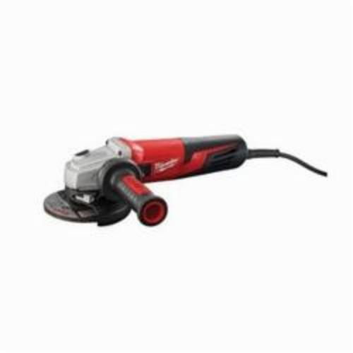 Milwaukee® 6117-31 Double Insulated Small Angle Grinder, 5 in Dia Wheel, 5/8-11 UNC Arbor/Shank, 120 VAC, Black/Red, Non-Locking Paddle Switch, Tool Only