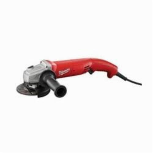 Milwaukee® 6124-31 Double Insulated Small Angle Grinder, 5 in Dia Wheel, 5/8-11 UNC Arbor/Shank, 120 VAC, Black/Red, Lock-ON Trigger Grip Switch, Tool Only