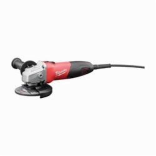 Milwaukee® 6130-33 Double Insulated Small Angle Grinder, 4-1/2 in Dia Wheel, 5/8-11 UNC Arbor/Shank, 120 VAC, Black/Red, Lock-ON Slide Switch, Tool Only