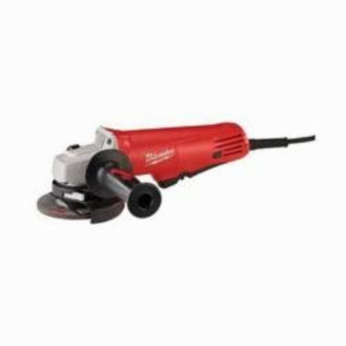 Milwaukee® 6140-30 Small Angle Grinder, 4-1/2 in Dia Wheel, 5/8-11 Arbor/Shank, 120 VAC, Lock-ON Paddle Switch, Tool Only