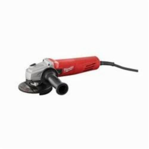 Milwaukee® 6146-33 Small Angle Grinder, 4-1/2 in Dia Wheel, 5/8-11 UNC Arbor/Shank, 120 VAC, Red, Lock-ON Slide Switch, Tool Only