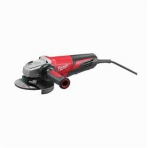 Milwaukee® 6161-30 Double Insulated Small Angle Grinder, 6 in Dia Wheel, 5/8-11 UNC Arbor/Shank, 120 VAC, Black/Red, Lock-ON Paddle Switch, Tool Only
