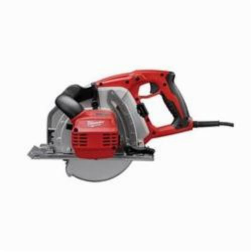 Milwaukee® 6370-21 Grounded Corded Circular Saw Kit, 8 in Dia Blade, 5/8 in Arbor/Shank, 2-9/16 in at 90 deg Cutting, Right Blade Side