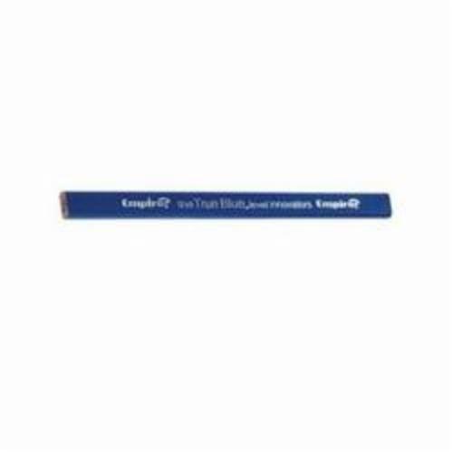 Empire® 87BLK Carpenter Pencil, Medium Lead, Blue Wood Barrel