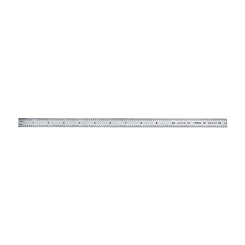 Mitutoyo 182-111 Wide Rigid Steel Rule, Metric Measuring System, Graduations 1 mm, 0.5 mm, 1 mm, 0.5 mm, 150 mm L, Tempered Stainless Steel, Black/Chrome