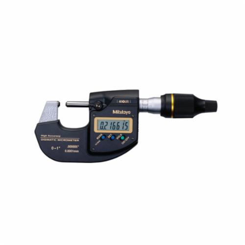 Mitutoyo 293-130 High Accuracy Sub-Micron MDH/Digimatic Micrometer, 0 to 1 in Measuring, LCD Display