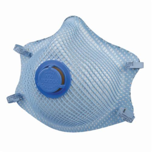 Moldex® 2500N95 Disposable Particulate Respirator With Exhalation Valve and Molded Nose Bridge, M to L, Resists: Heat, Flame and Non-Oil Based Particulates