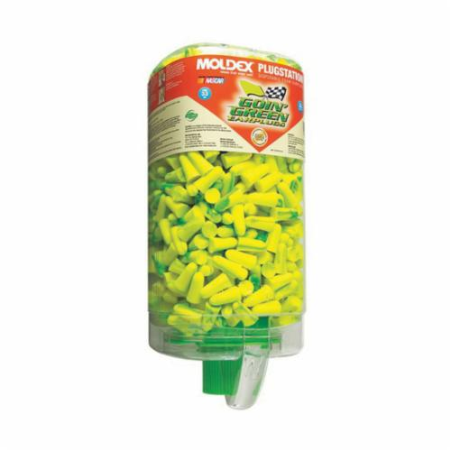 Moldex® 6647 Goin' Green® PlugStation® Earplugs, 33 dB Noise Reduction, Tapered Shape, ANSI S3.19-1974, Disposable, Uncorded Design
