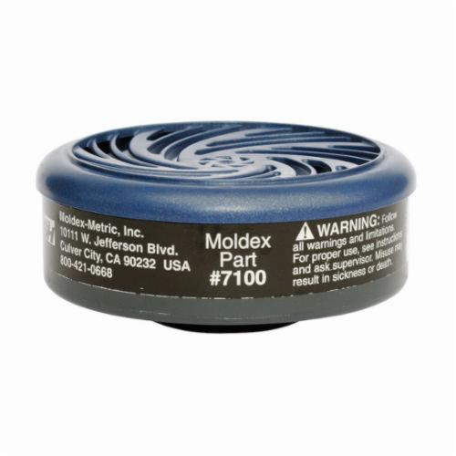 Moldex® 7100 Combination Cartridge, For Use With 7000, 9000 Series Respirators and 7100 OV Cartridges, N95 Filter Class, 0.95 Filter Efficiency, Bayonet Connection, Resists: Organic Vapors