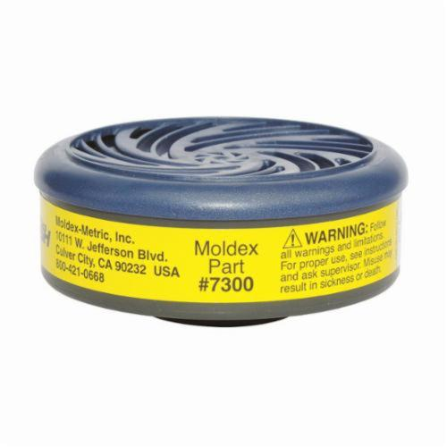Moldex® 7300 Combination Cartridge, For Use With Moldex® 7000 Half-Mask Respirator and Moldex® 9000 Full Face Respirators, N95/R95/P100 Filter Class, Bayonet Connection, Resists: Acid Gas and Organic Vapors