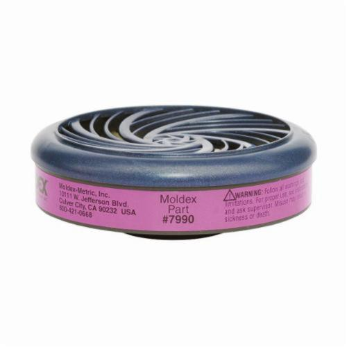 Moldex® 7990 Particulate Cartridge, For Use With Moldex® 7000 Half-Mask Respirator and Moldex® 9000 Full Face Respirators, P100 Filter Class, 0.999 Filter Efficiency, Bayonet Connection, Resists: Oil and Non-Oil Particulates