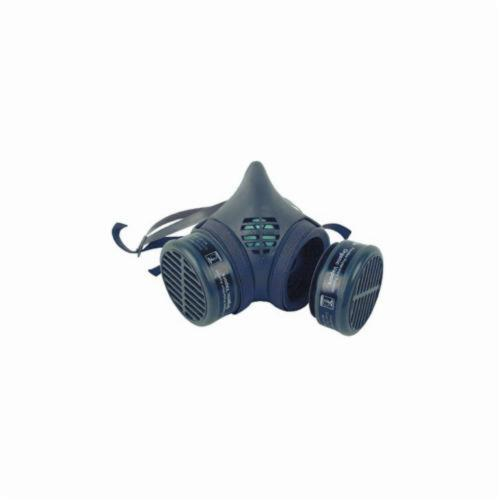 Moldex® 8102 Half Mask Respirator, M, Yolk/Cradle Suspension, Snap-In Gasket Connection, Resists: Organic Vapors