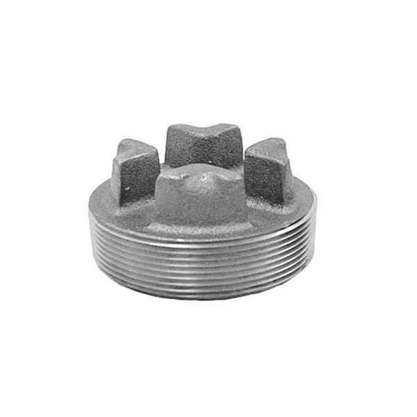 Anvil® 0318903283 FIG 389 Cored Bar Head Plug, 6 in Nominal, MNPT End Style, 125 lb, Cast Iron, Black Oxide, Domestic
