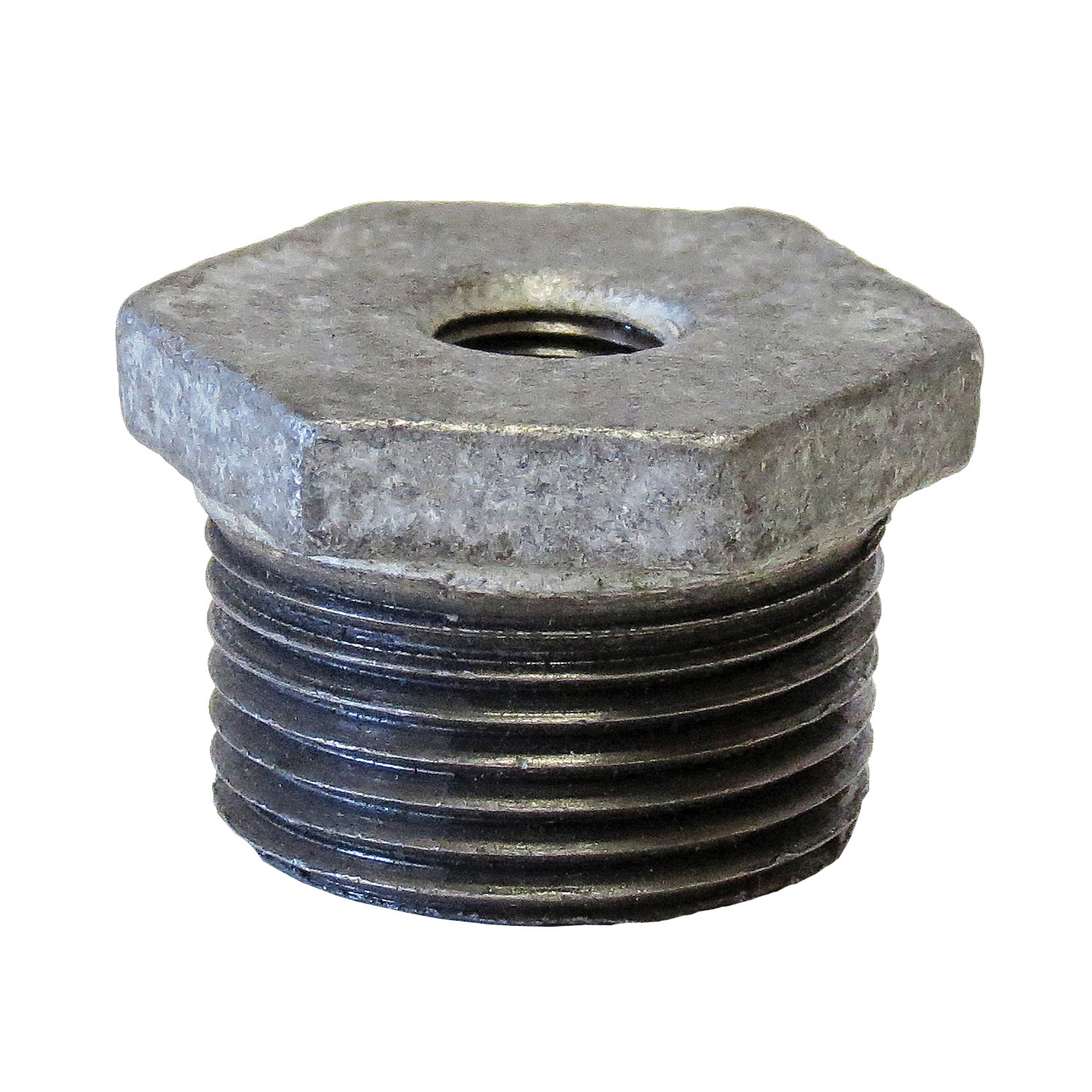 Anvil® 0319907044 Hex Head Pipe Bushing, 1-1/4 x 3/4 in Nominal, Cast Iron, Galvanized, Domestic