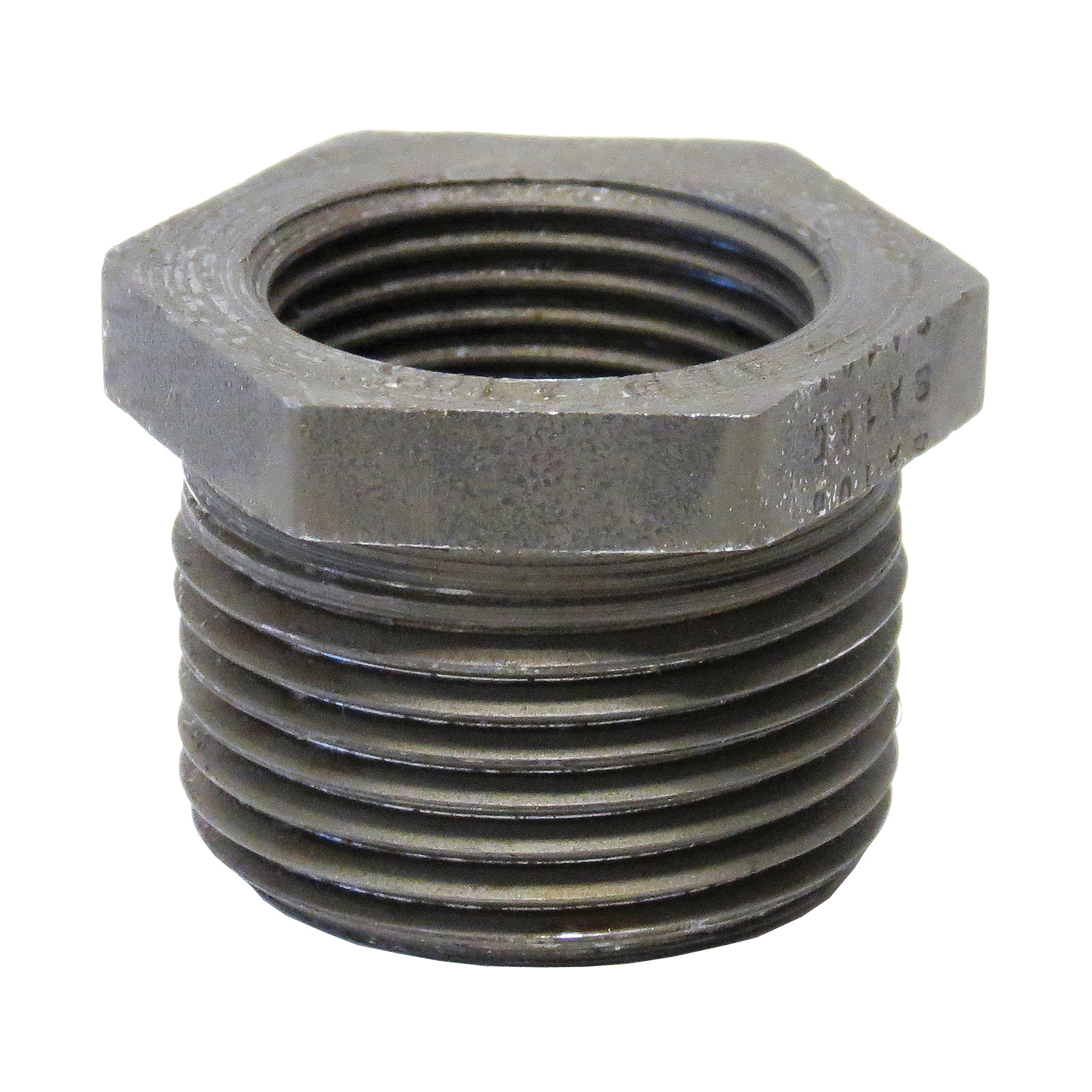 Anvil® 0361331408 FIG 2139 Hex Head Pipe Bushing, 1 x 3/4 in Nominal, MNPT x FNPT End Style, 3000 lb, Steel, Black Oxide, Domestic