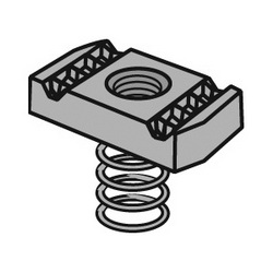 Anvil-Strut™ 2400205668 FIG AS RS Clamping Nut With Regular Spring, 1/4-20 Thread, Import