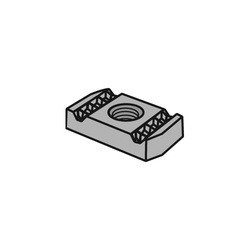 Anvil-Strut™ 2400206062 FIG AS NS Clamping Nut, 3/8-16 Thread, Import
