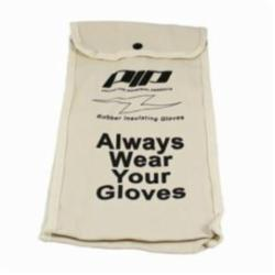 Novax® 148-6014 Protective Bag, Snap Closure, For Use With 14 in Insulating Gloves, Cotton Canvas, Natural with Black Lettering