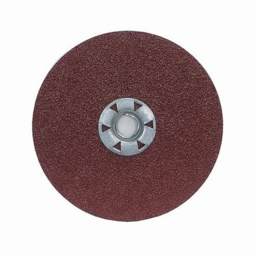 Norton® Neon® 66623395023 F726 Close Coated Heavy Duty Locking Abrasive Disc, 7 in Dia, 5/8-11 Center Hole, 24 Grit, Extra Coarse Grade, Aluminum Oxide/Ceramic Alumina Abrasive, Speed Change Fastener Attachment