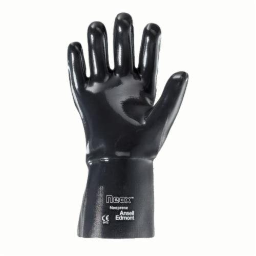Ansell Neox® 212471 9-430 Fully Coated Heavy Duty Chemical Resistant Gloves, SZ 10, Neoprene, Black, Fleece/Jersey Lining, 31 in L, Resists: Abrasion, Cut and Chemical, Shoulder Length Cuff, 80 mil THK