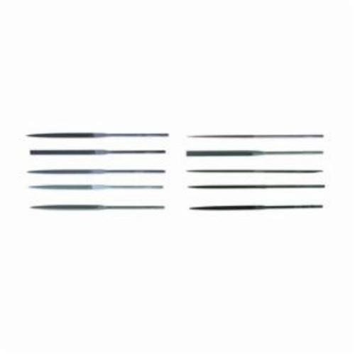 CRESCENT NICHOLSON® 37029 Assorted Swiss Pattern Needle File Set, 12 Pieces, #0 Cut
