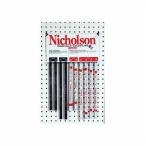 CRESCENT NICHOLSON® 63103 Replacement Shatterproof Hacksaw Blade, 1/2 in W x 10 in L Blade, Solid High Carbon Steel Cutting Edge, 18 TPI, Solid High Carbon Steel Blade
