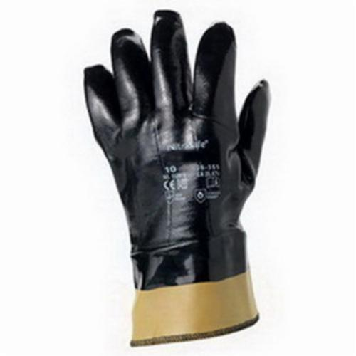 NitraSafe® 216150 28-359 Heavy Duty Cut Resistant Gloves, SZ 10, Foam Nitrile Coating, Jersey/Kevlar®, Nitragold™ Safety Cuff, Resists: Abrasion and Cut, ANSI Cut-Resistance Level: A3, ANSI Puncture-Resistance Level: 3, Ambidextrous Hand