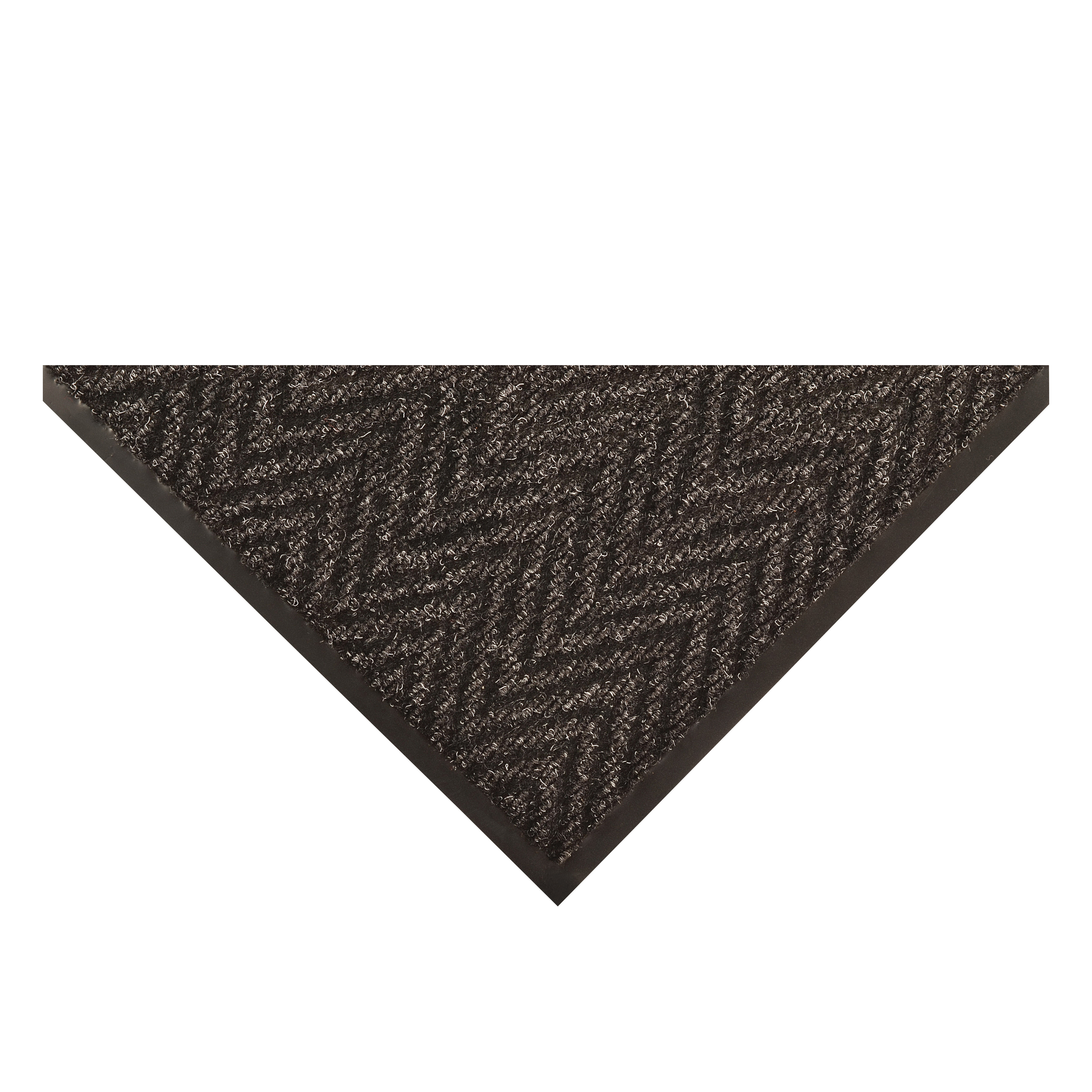 NoTrax® 118S0046CH Arrow Trax™ 118 Rectangular Entrance Floor Mat, 6 ft L x 4 ft W x 3/8 in THK, Charcoal, Herringbone/Needle Punch Surface Pattern, Dry/Scrape Surface, Resists: Crushing, Indoor