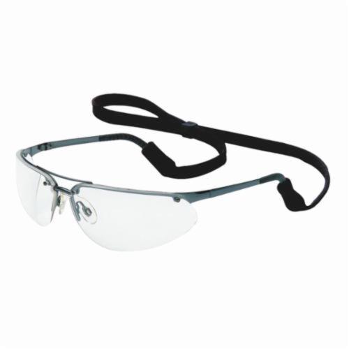 North® by Honeywell 11150800 Fuse® Safety Eyewear, Anti-Scratch/Hard Coat, Clear Lens, Wrap Around Frame, Gunmetal, Metal Frame, Polycarbonate Lens, ANSI Z87.1-2010, CSA Z94.3, AS/NZS 1337
