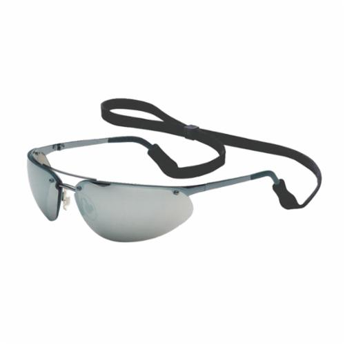 North® by Honeywell 11150804 Fuse® Safety Eyewear, Hard Coated, Silver Mirror Lens, Wrap Around Frame, Gunmetal, Metal Frame, Polycarbonate Lens, ANSI Z87.1-2010, CSA Z94.3, AS/NZS 1337