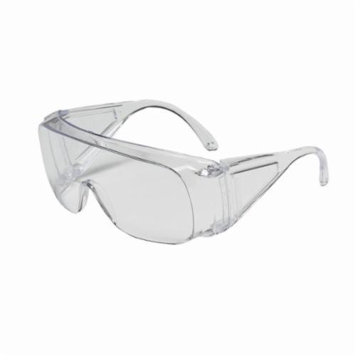 North® by Honeywell 11180031 Polysafe® Single Lens Safety Eyewear, Hard Coated, Clear Lens, Wrap Around Frame, Clear, Polycarbonate Frame, Polycarbonate Lens, ANSI Z87.1-2010, CSA Z94.3
