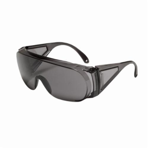 North® by Honeywell 11180032 Polysafe® Single Lens Safety Eyewear, Hard Coated, Gray Lens, Wrap Around Frame, Gray, Polycarbonate Frame, Polycarbonate Lens, ANSI Z87.1-2010, CSA Z94.3