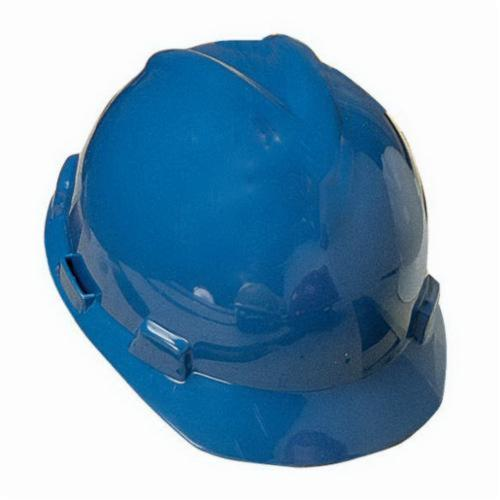 North® by Honeywell A79170000 Peak Front Brim Hard Hat, SZ 6-1/2 Fits Mini Hat, SZ 8 Fits Max Hat, HDPE, 4-Point Nylon Suspension, ANSI Electrical Class Rating: Class E, ANSI Impact Rating: Type I, Pin Lock Adjustment