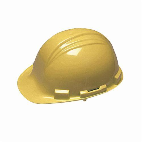 North® by Honeywell A79R020000 Peak Front Brim Hard Hat, SZ 6-1/2 Fits Mini Hat, SZ 8 Fits Max Hat, HDPE, 4-Point Nylon Suspension, ANSI Electrical Class Rating: Class E, ANSI Impact Rating: Type I, Ratchet Adjustment