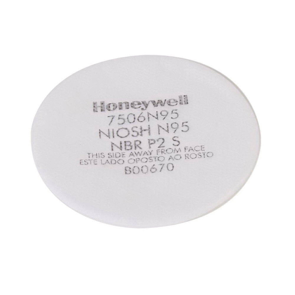 North® by Honeywell 7506N95 N Series Filter Pad, For Use With RU8500 and 7700 Series Half Masks Respirators, N95