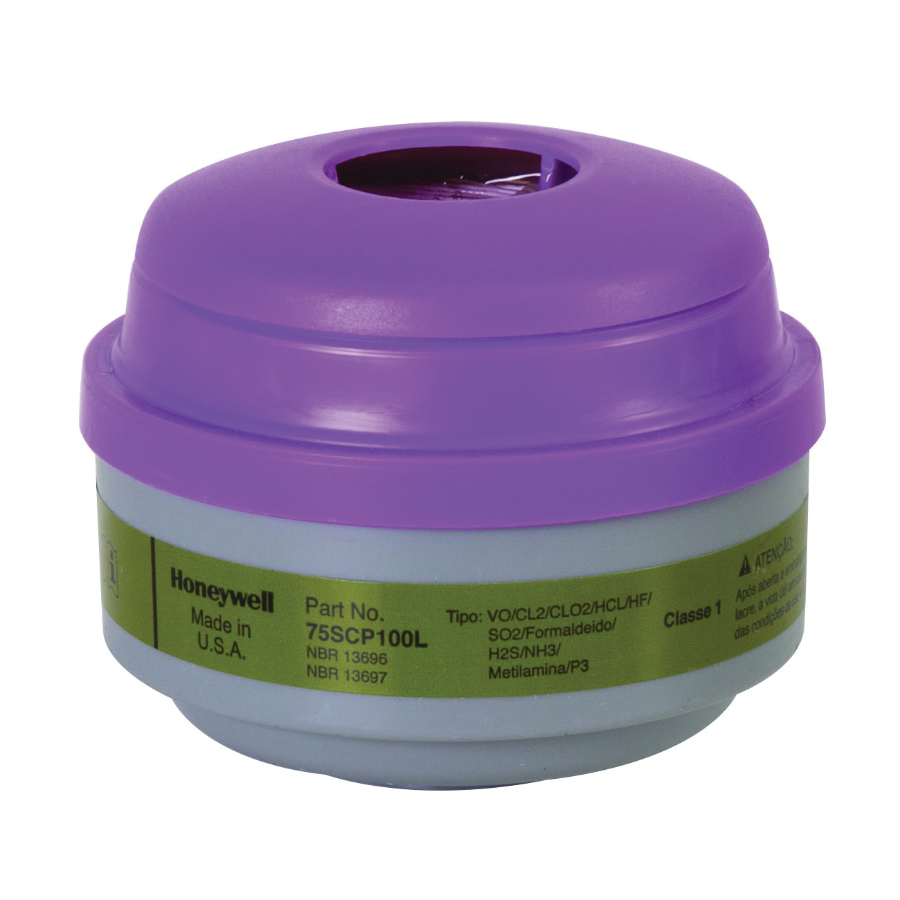 North® by Honeywell 75SCP100L N Series Low Profile Combination Cartridge, For Use With 5400, 5500, 7600 and 7700 Series Respirators, P100 Filter Class, 0.999 Filter Efficiency