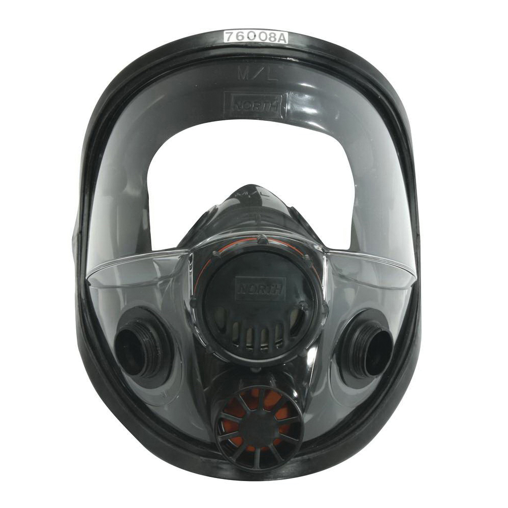 Honeywell North® 760008AS Full Face Respirator With Speaking Diaphragm, S, 5-Point Suspension, Thread Connection, Resists: Chemical, Gas, Particulates and Contamination