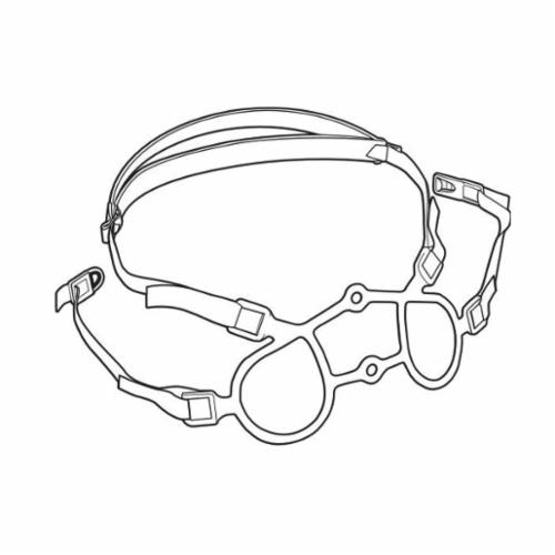 North® by Honeywell 770092 Cradle Suspension Head Harness Assembly, For Use With 5500 Series and 7700 Series Half Mask Respirators